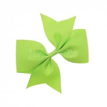 12pcs 4  Solid Pigtail with Spike Hair Bows NO CLIP-Apple Green