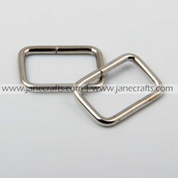 50pcs 7/8  Metal Square Rings Silver Color for Webbing Strapping