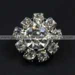 50pcs 16mm Round Rhinestone Button