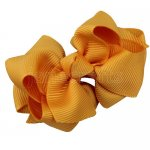 12pcs 2.5 inch layered boutique bow clip-gold