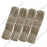 "1.5"" Crochet Headbands in Lt Brown-12PCS"