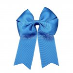 "12pcs 4"" Tails Down Solid Grosgrain Cheer Bow/Cheerleading Bows NO CLIP-Royal"