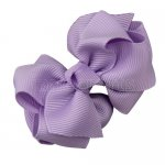 12pcs 2.5 inch layered boutique bow clip-lt. orchid