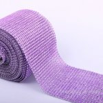 "4.6"" Wedding Diamond Mesh Wrap Roll Sparkle Rhinestone Looking Ribbon 10 yard-Lavender"
