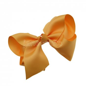 12pcs 5.5  Huge Solid Grosgrain Chunky Boutique Hair Bows Without Clip-Gold