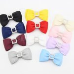 11pcs 3 Inch Layered Hair Bowtie Bows with Square Center Mix 11 Color