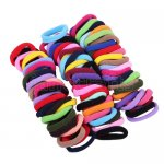 96pcs 8mm Girl Elastic Hair Ties Band Ponytail Holders Scrunchie Mixed Colors