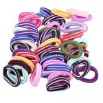 48pcs 17mm Colorful Girl Elastic Hair Ties Band Ponytail Holders Scrunchie Mixed Colors