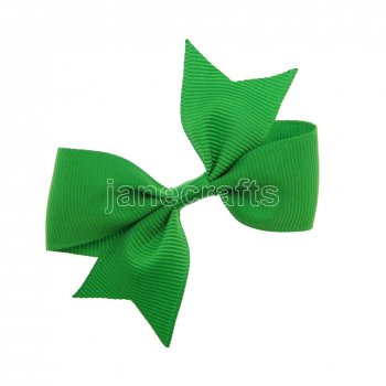 12pcs 3  Solid Pigtail with Spike Hair Bows NO CLIP-Emerald