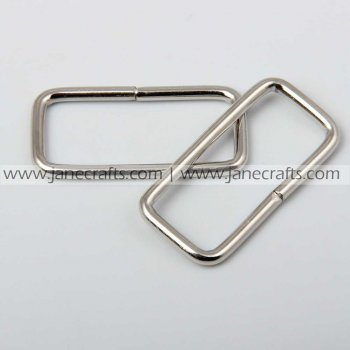 50pcs 1.5  Metal Square Rings Silver Color for Webbing Strapping