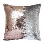 10pcs wholesale champagne / silver two tone reversible sequin cushions cover pillow case