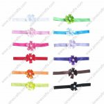 12 Sets Skinny Baby heabdnads with Mini Bead flowers mixed in 12 Colors