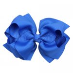 12pcs 4 inch layered boutique bow clip-royal
