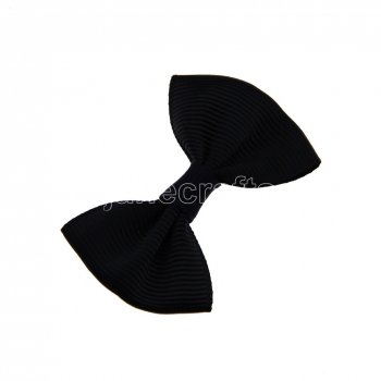 12pcs 2  Mini Solid Bowtie Hair Bow Clips-Black