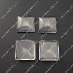 50pcs 20mm*20mm Clear Glass Cabochons, Transparent, Cabochon Square Flat Back for Jewelry and Cabochon Settings(JS-GC002)