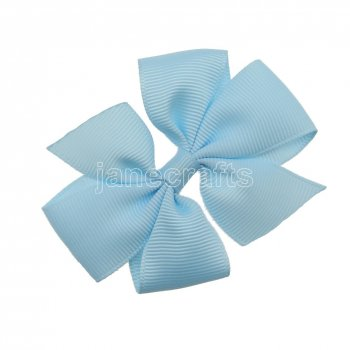 12pcs 3  Solid Daily Pinwheel Hair Bow Clips-Lt Blue