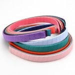 "12pc 3/8"" Ribbon Wrapped 15mm Plastic Headband Solid Grosgrain Assorted Colors"