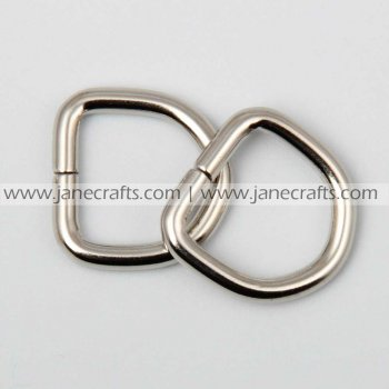 25pcs 3/4  Metal D-Rings Silver Tone for Webbing Strapping