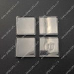 50pcs 25*25mm Clear Glass Cabochons, Transparent, Both Surface Flat, Square for Jewelry and Cabochon Settings(JS-GC025)