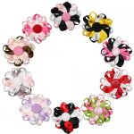 "10pcs 3"" Flower Loop Hair Bow Clips Hairbow Assorted 10 Color"