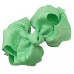 12pcs 2.5 inch layered boutique bow clip-mint