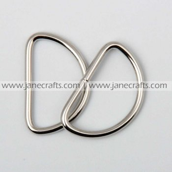 50pcs 1 1/4  Metal D-Rings Silver Tone for Webbing Strapping