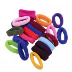 50pcs 18mm Mixed Colors Girl Elastic Hair Ties Band Ponytail Holders Scrunchie