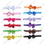 "12pcs 3"" Hairbow + Baby Hairband set 12 Colors"