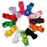"12pcs 3.5"" Classic Boutique Chunky Bow with Headband Wholesale Mix 12 Color"