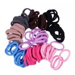 100pcs 8mm Girl Elastic Hair Ties Band Ponytail Holders Scrunchie Mixed Colors
