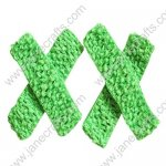 "1.5"" Crochet Headbands in Green-12PCS"