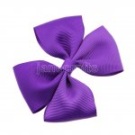 "12pcs 3.5"" Medium Grosgrain Pinwheel Hair Bow Clips-Purple"