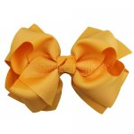 12pcs 5 inch layered boutique bow clip-gold