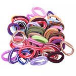 48pcs 14mm Colorful Girl Elastic Hair Ties Band Ponytail Holders Scrunchie Mixed Colors