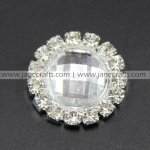50pcs 16mm Round Acrylic Rhinestone Button Flatback Crystal