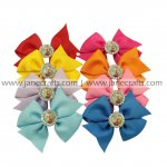 "8pcs FROZEN Rhinestone Center 3.5"" Pinwheel Hair Bow Without Clip-Mix 8 Color"