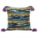 Bienbee Knit Pillow Cover Knitted Throw Pillow Cushion Covers with Tassels