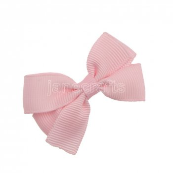 12pcs 2  Solid Pigtail Hair Bow Clips-Lt Pink