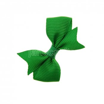 12pcs 2  Solid Pigtail with Spike Hair Bow Clips-Emerald