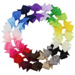 20pcs 3 Inch Small Pinwheel Pigtail Bow Clips Mix 20 Color