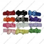 "12pcs 3.5"" Classic Solid Grosgrain Spike Bow with 12 Headband Mix 12 Color"