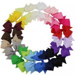 20pcs 4 Inch Pinwheel Pigtail Bow Clips Mix 20 Color