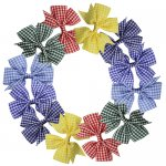 12 pcs school gingham 3 inch pinwheel bow w/ alligator clip mix 6 colors