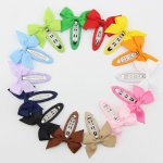 "28pcs 2"" pinwheel bow with lined hair snap mixed in 14 solid colors"