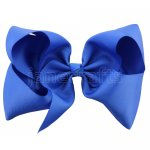 12 pcs royal grosgrain 8 inch boutique bow w/ alligator clip