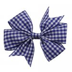 12 pcs school color navy gingham 3 inch pinwheel bow w/ alligator clip