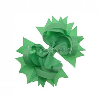 12pcs 4.5  Solid Spike Hair Bow Clips-Mint