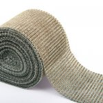 "4.6"" Wedding Diamond Mesh Wrap Roll Sparkle Rhinestone Looking Ribbon 10 yard-Brown"