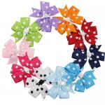 "3"" Polka Dot Grosgrain Daily Bow 10pcs Mix 10 Color"