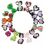 "3.5"" Sweet Spike Hair Bow Clips 15pcs in 15 Mixed Color Wholesale"
